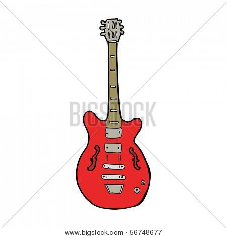 cartoon electric guitar
