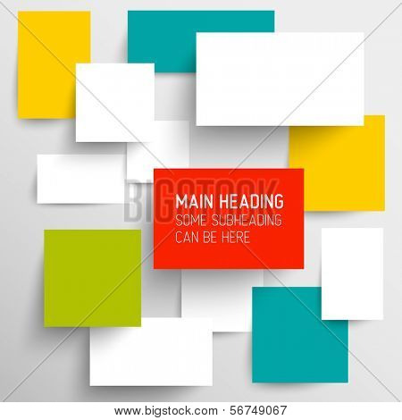 Vector abstract blank squares background illustration / infographic template with place for your content