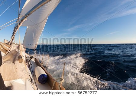 Sailing Boat Crop In The Sea