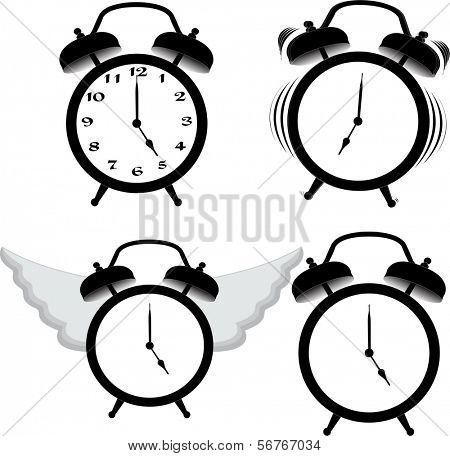 Alarm clock ring and fly