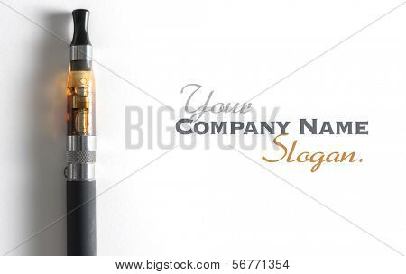 e-cigarette, with lots of copy space