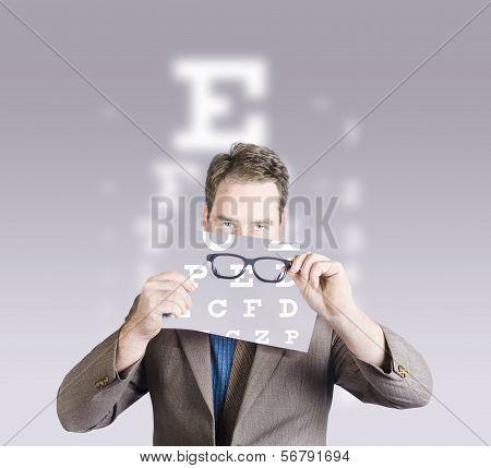 Optometrist Or Vision Doctor Holding Eye Glasses