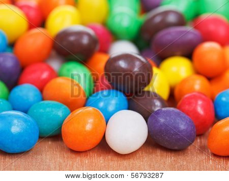 Multi-colored Chocolate Candy Dragees