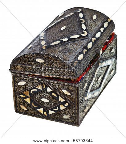 Ancient Treasure Chest With Incrustation
