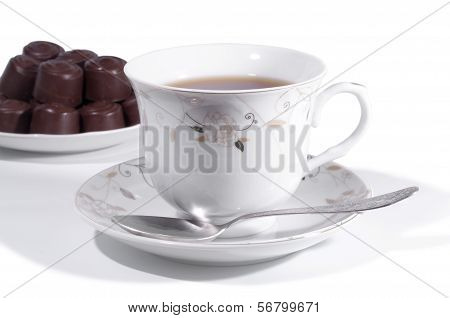 cap of tea chocolate
