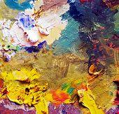 art palette background poster