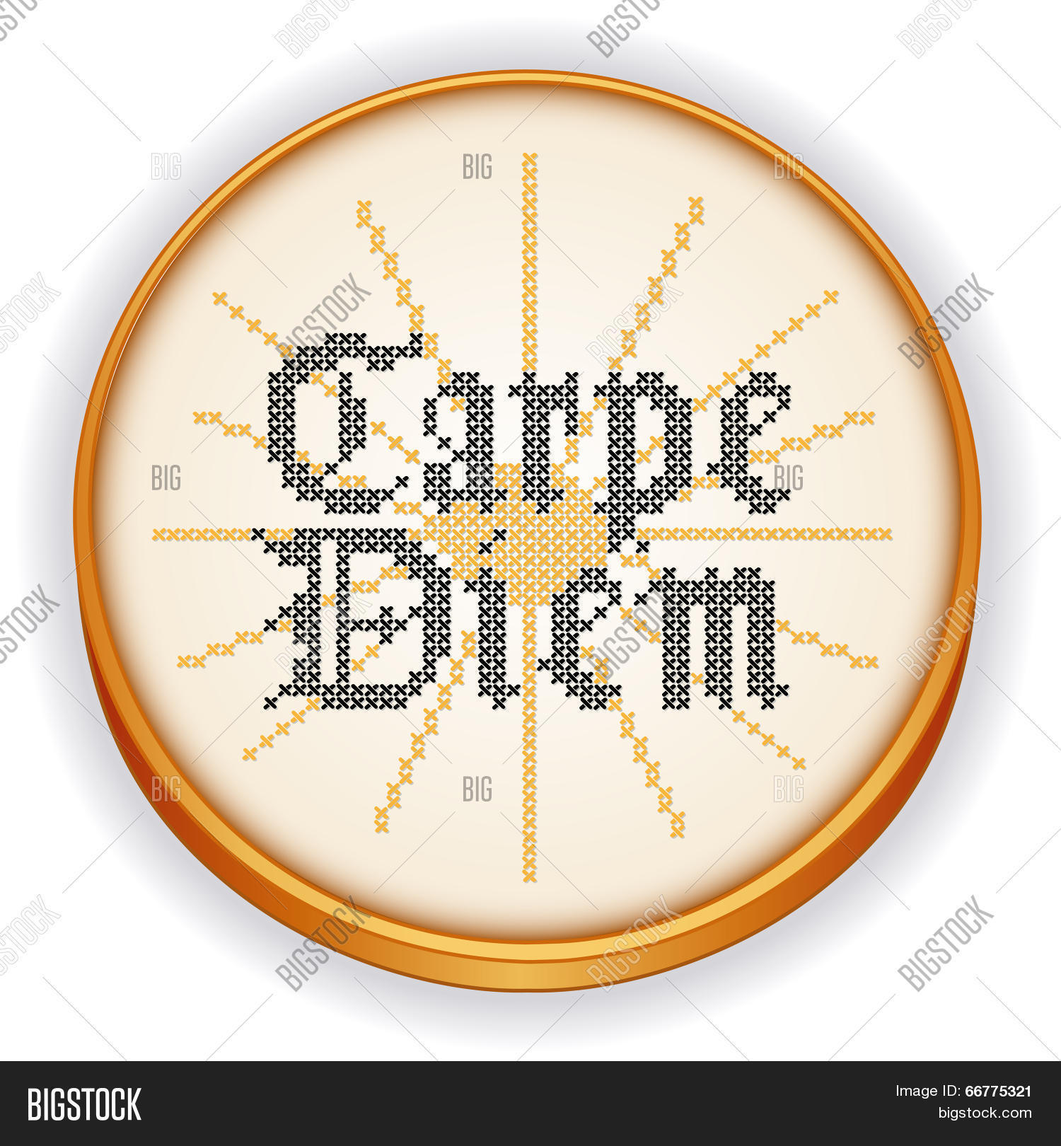 Carpe Diem Embroidery Vector Photo Free Trial Bigstock