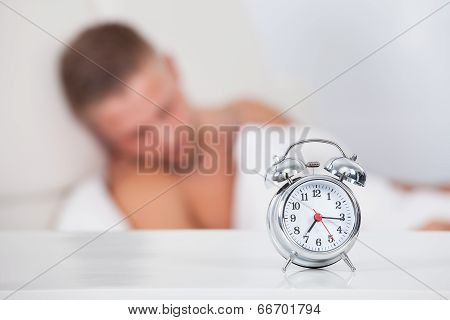 Alarm Clock About To Ring In The Morning