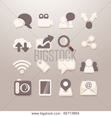 Social Media Icons Vector - Grace_series