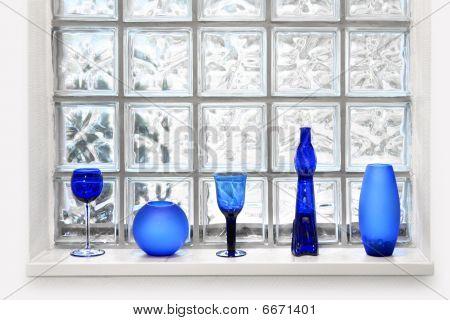 Glass Tile Window Arrangement