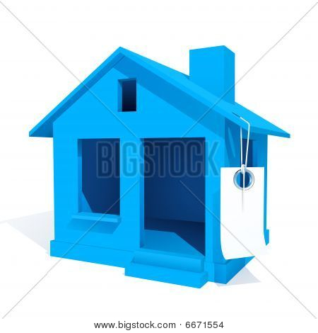 The small house with label