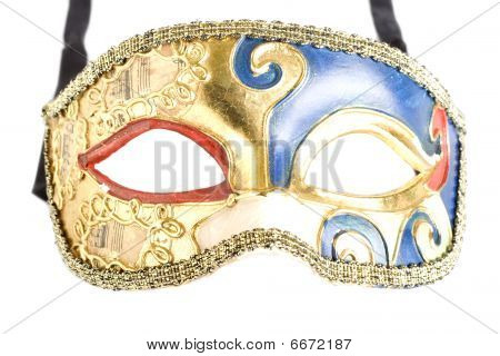 picture of an old venetian mask. Isolated on white poster