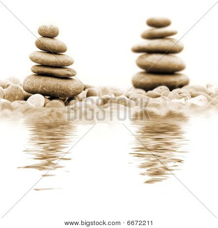 Pile Of Stones Over White