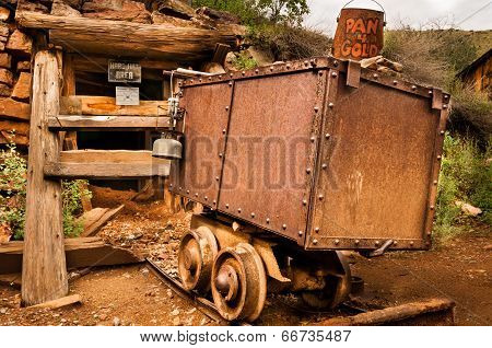 Jerome Arizona Ghost Town Mine Car