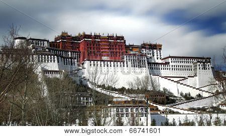 Exterior of holy Potala Palace in Lhasa, Tibet, China