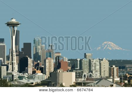Downtown Seattle Mt. Rainier