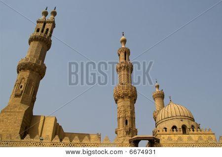 the central islamic mosque al azhar in cairo poster