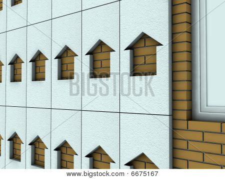 Wall With Polystyrene