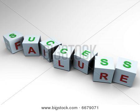 Success or Failure - 3d cubes