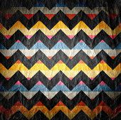 Leather Colorful Seamless Chevron Pattern - Background or Texture poster