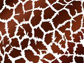 illustration of background in giraffe skin style, brown poster