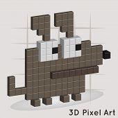a Dog. Pixel Art. Vector for you design poster