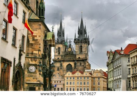 Tyn Cathedral (Church of St. Mother before Tyn) Prague Czech republic poster