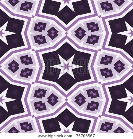 Seamless Kaleidoscope Pattern In Violet
