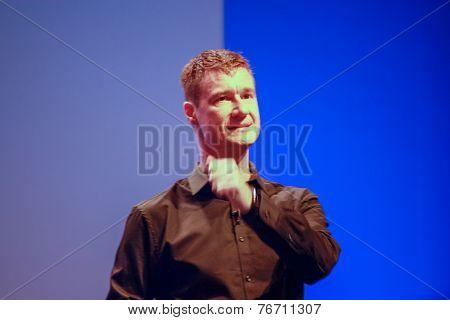 Berlin, Germany - November 11, 2014: Sap Head Of Products And Innovation Technology Bjorn Goerke Del