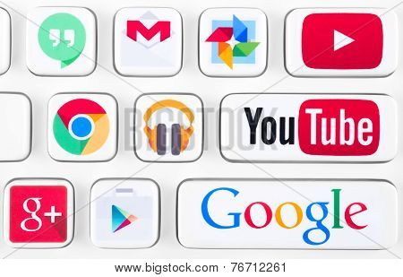 Most Popular Logotypes Of Google Applications