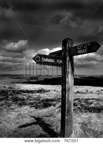 Peak District Signpost