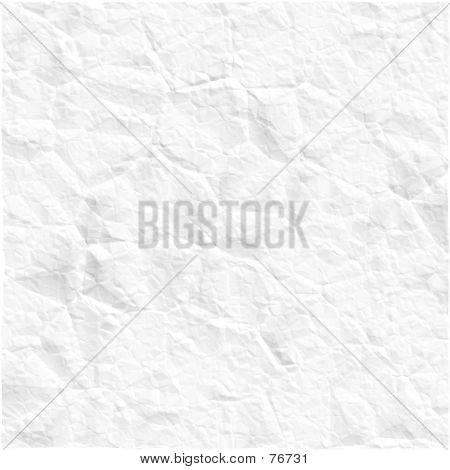 Scrunched White Paper