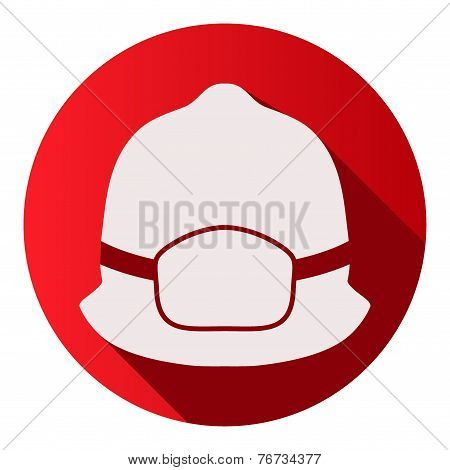 Flat icons of fireman helmet vector illustration