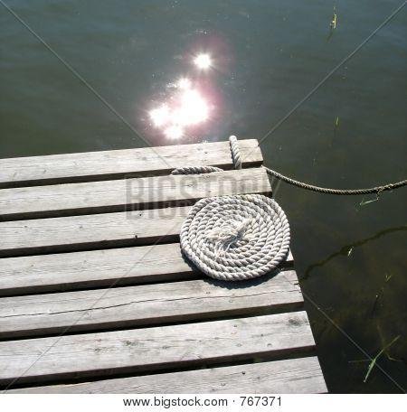 Bridge with rope