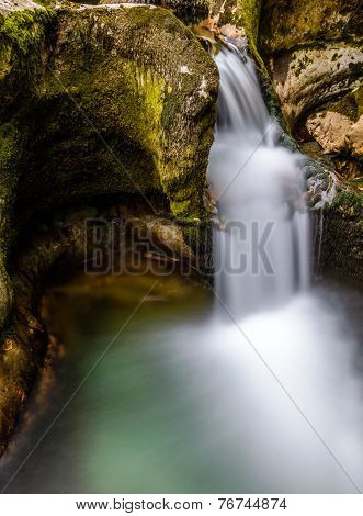 Smoothly Flowing Stream Of Water