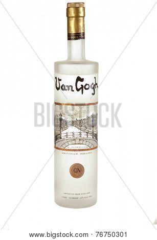 Hayward, CA - November 23, 2014: 750mL bottle of  Van Gogh Gin