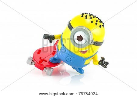 Carl rocket Minion toy character from Despicable Me animation movie.
