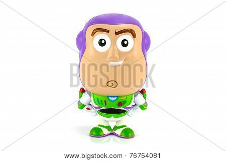 Buzz lightyear figure model toy character form Toy Story animation by Disney Pixar studio.