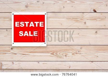 Estate Sale Red White Sign