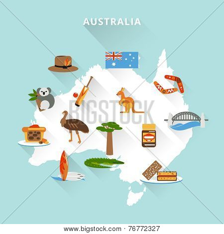 Australia tourist map