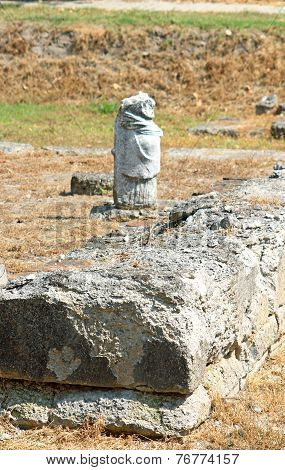 Greek Archaic Statue Found At Ancient Dion Of Katerini City In North Greece