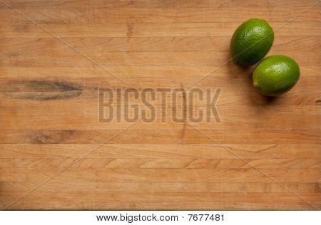 Limes On A Cutting Board