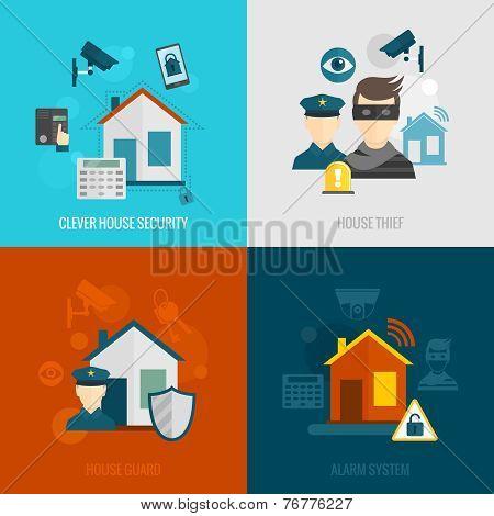 Home security flat set