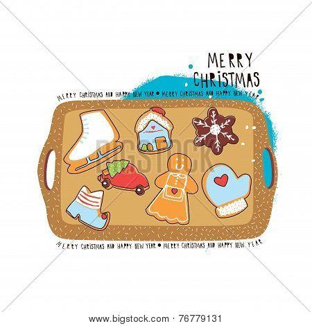 Christmas cookies. Vector illustration