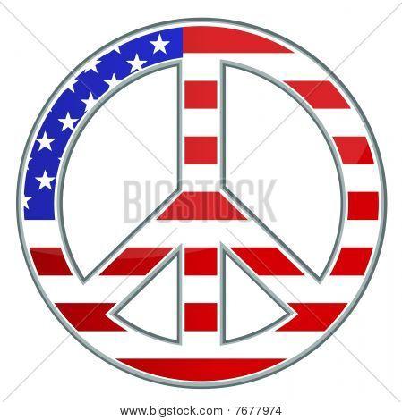 Peace sign / USA / Vector