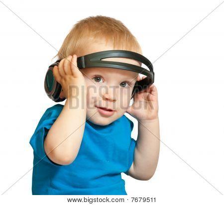Blue Shirt With Headphones