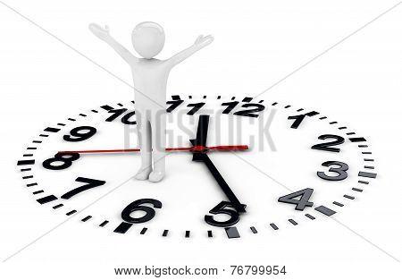 Human And Clockface