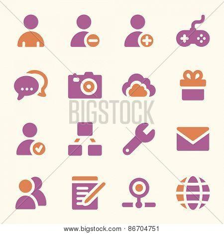 Social media web icons set