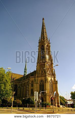 Memorial Church of the Protestation in Speyer Germany poster