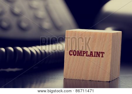 Customer Services Complaint Concept